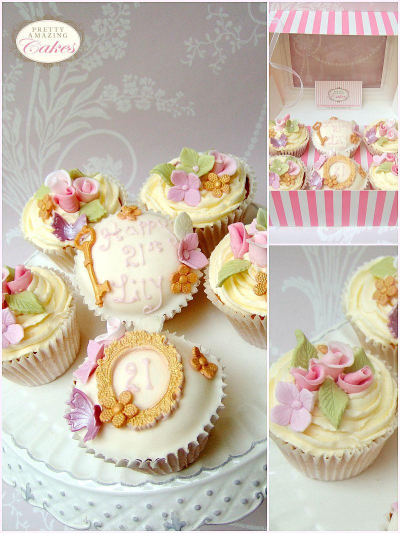 Key of the door birthday cupcakes, by Bristol bakery Pretty Amazing Cakes