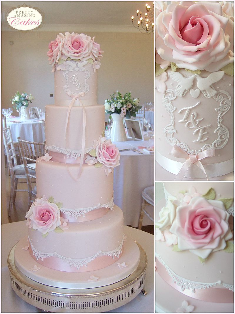 Pastel Pink Gothic Wedding Cakes