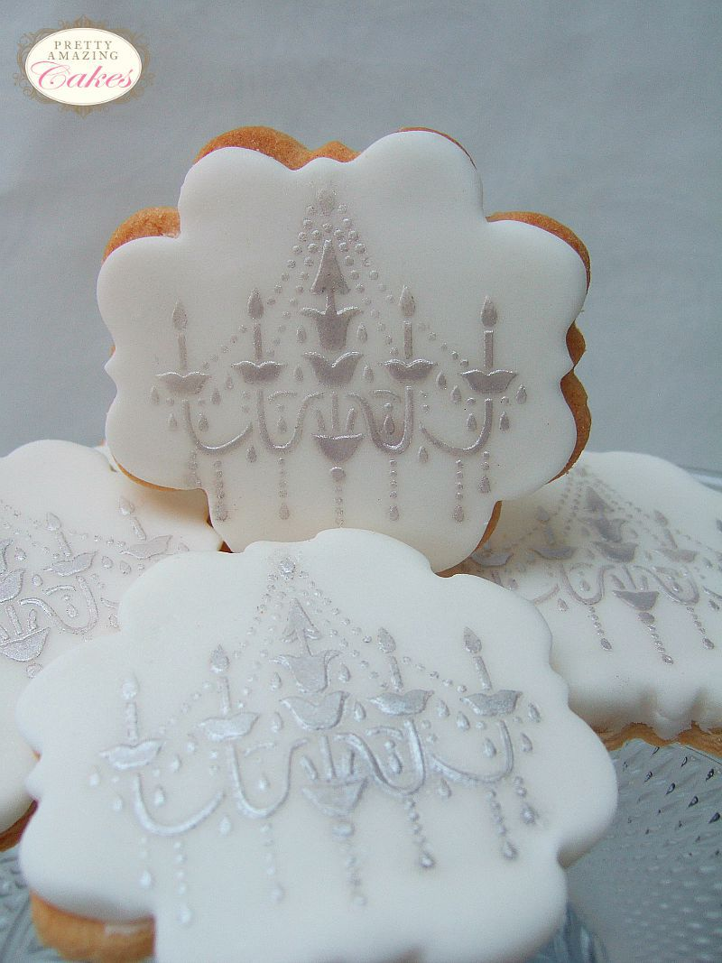 Chandlier Biscuit Wedding Favours Bristol by Pretty Amazing Cakes