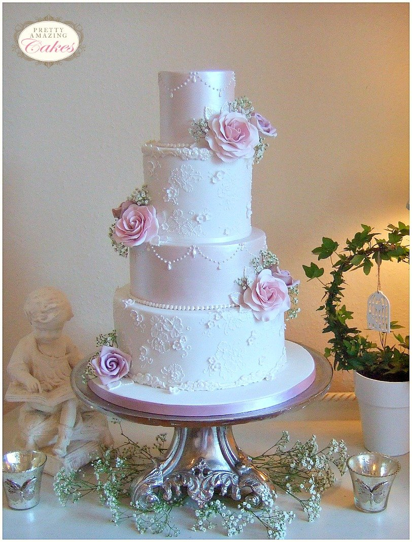 Amnesia rose wedding cakes Bristol, Vintage Wedding Cakes Bristol, Custom designed wedding cakes home made in Bristol