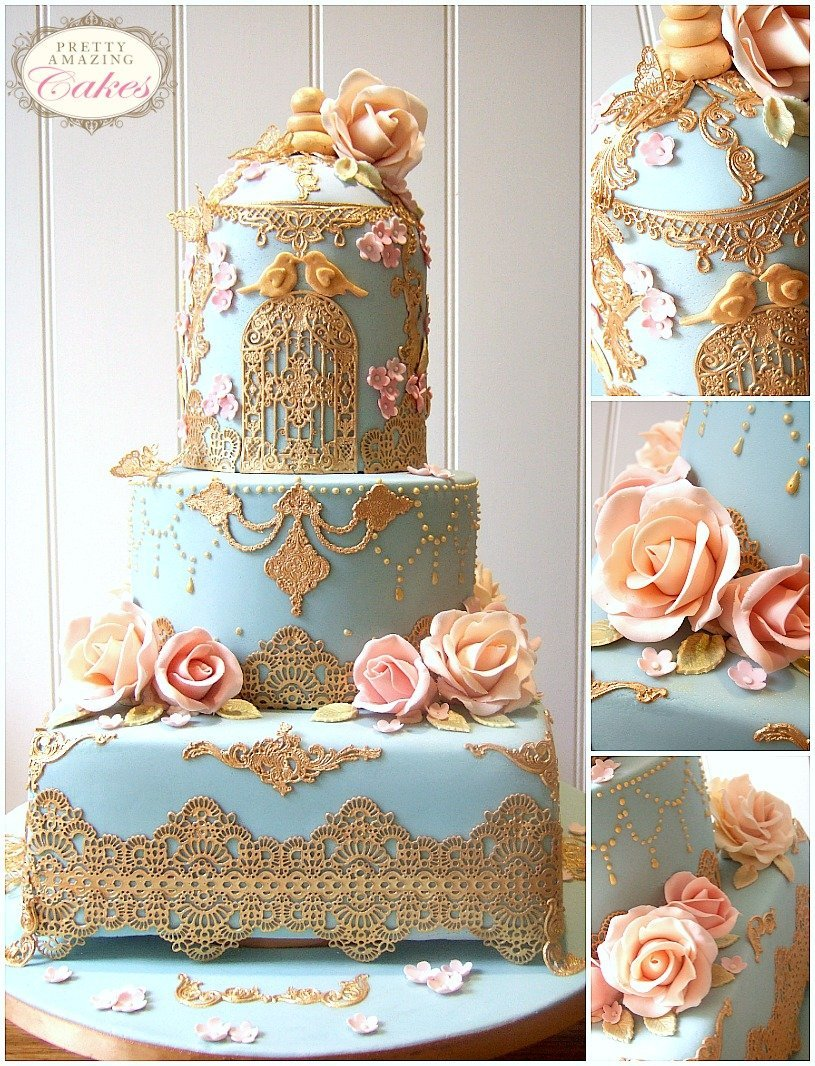 Baroque Lace Wedding Cake Bristol, Gloucester, Cotswolds, Bath, Somerset Pretty Amazing Cakes Award winning wedding cake designer in Bristol