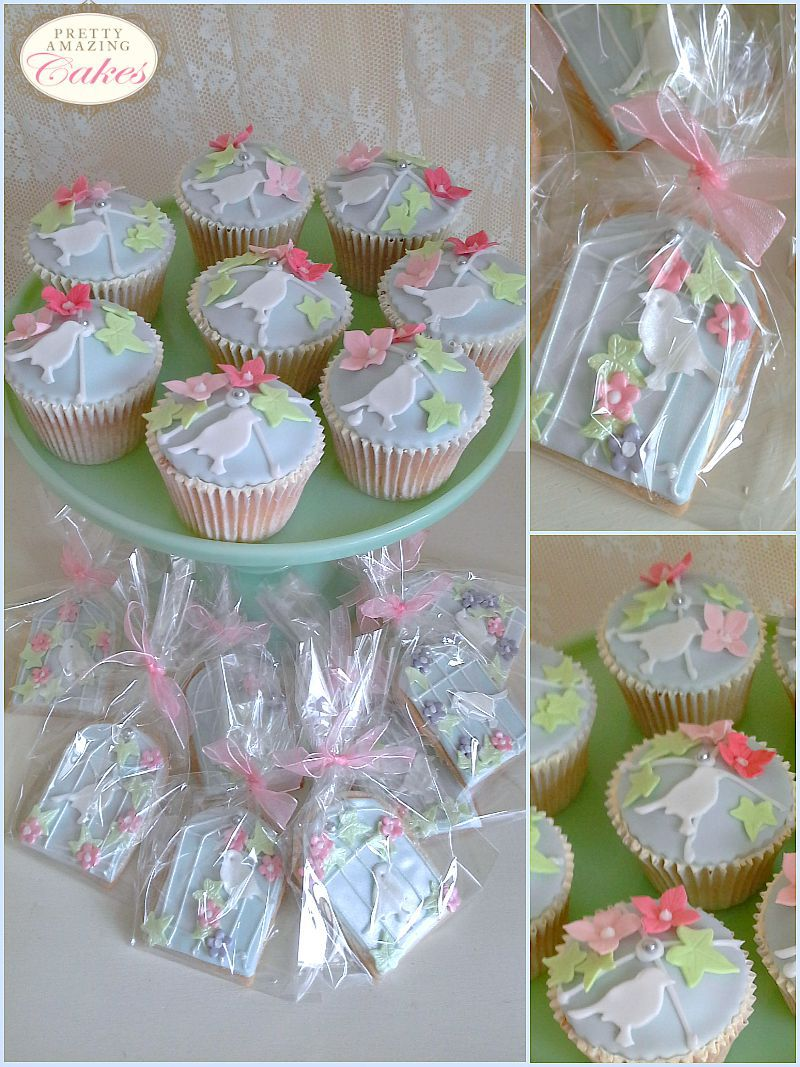 Birdcage cupcakes and cookies by Pretty Amazing Cakes, Bristol bakery