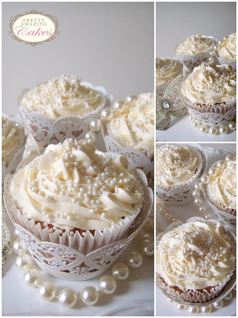 Pearly Wedding Cupcakes Bristol at Pretty Amazing Cakes