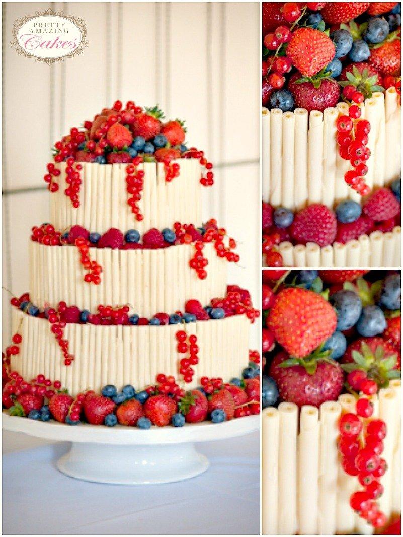 white chocolate with berries cake Bristol