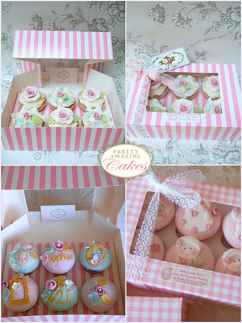 Pretty Gift Boxed Cupcakes by Bristol bakery Pretty Amazing Cakes