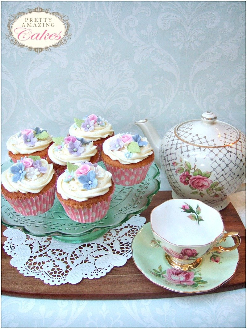 Cupcakes for vintage tea party Bristol by Pretty Amazing Cakes