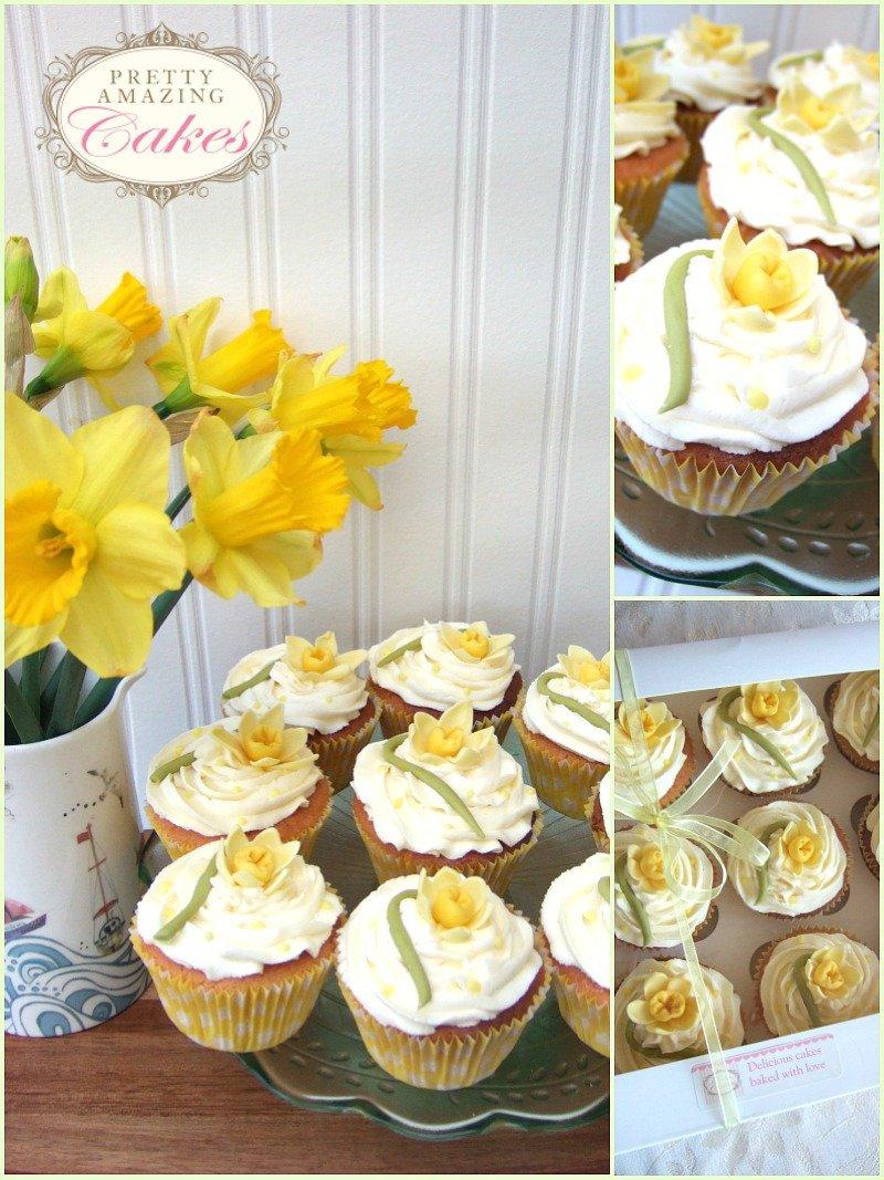 Daffodil Cupcakes Bristol by Pretty Amazing Cakes