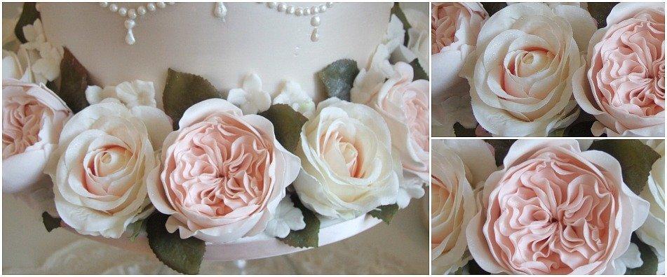 David Austin Roses, sugarcraft flowers Bristol Pretty Amazing Cakes Anne Gliddon wedding cake designer