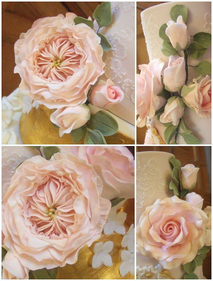 David Austin Wedding Roses Bristol, Sugarcraft David Austin Roses Bristol, wedding cake roses Bristol