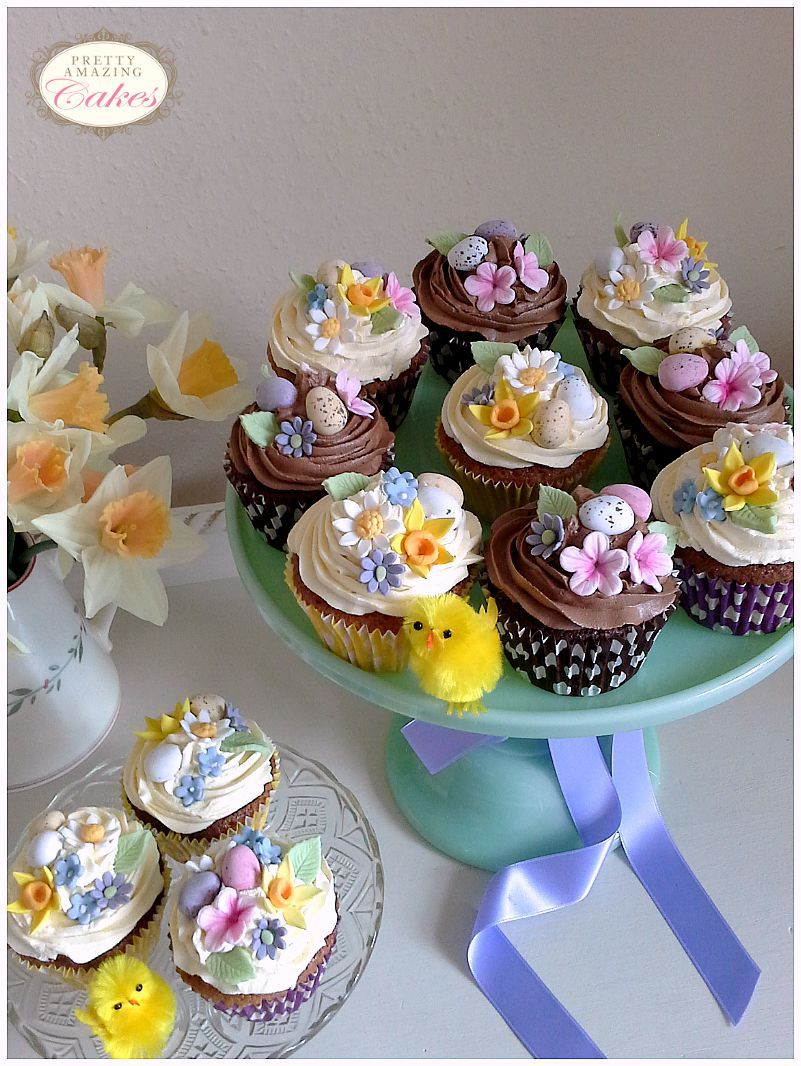 Easter cupcakes by Pretty Amazing Cakes Bristol