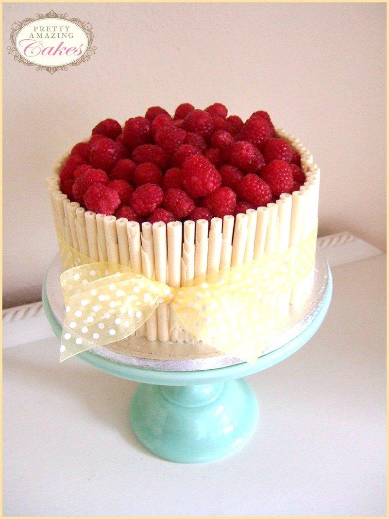 Raspberry and white chocolate cake Bristol