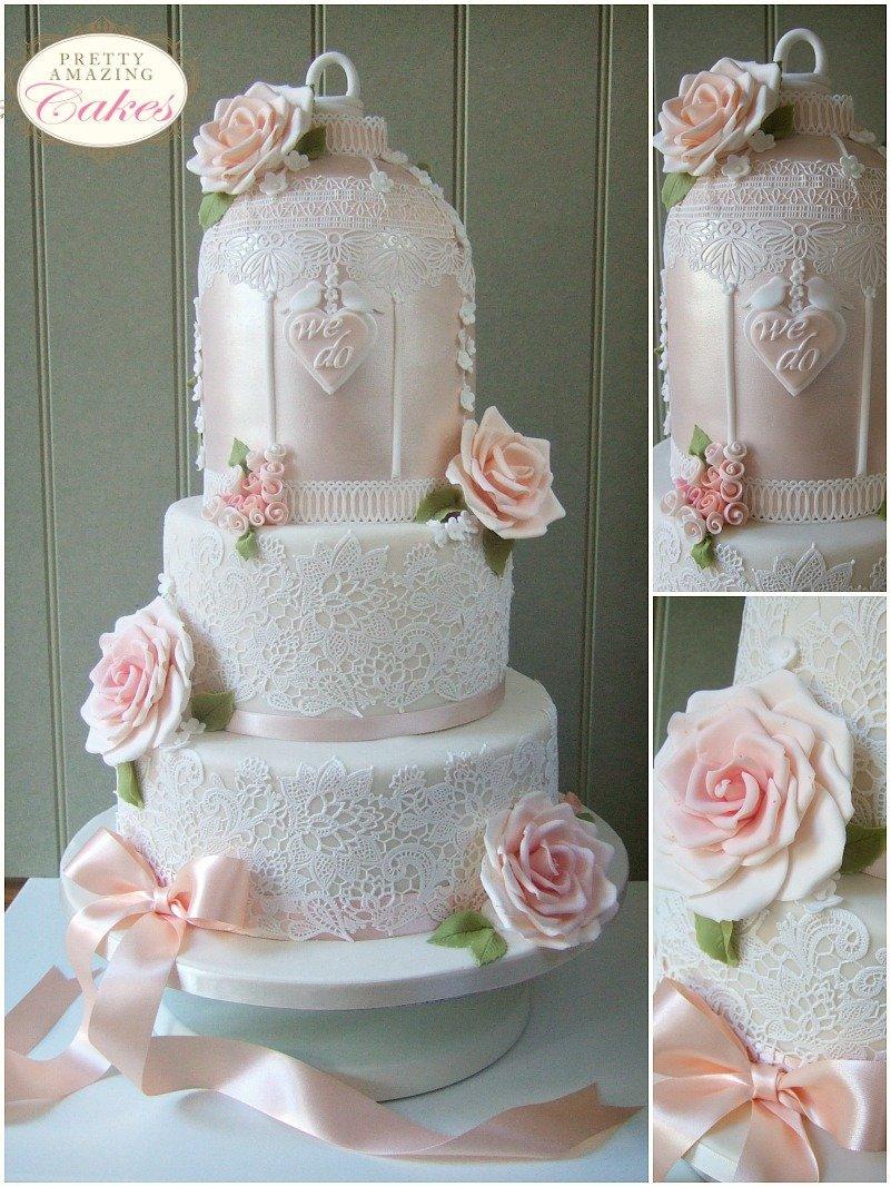 Birdcage wedding Cakes in Bristol
