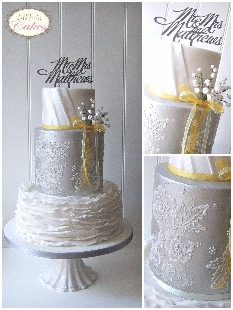 Play Design Your Wedding Cake : Metallic wedding cakes