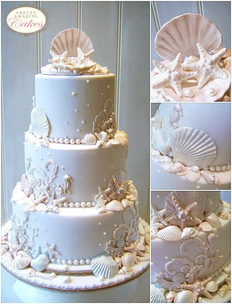 Seashell wedding cakes Bristol, Gloucester, Somerset, Cotswolds