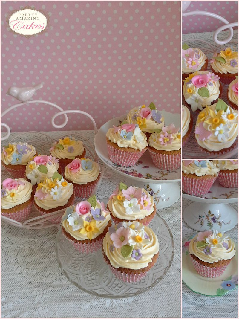 Springtime cupcakes by Pretty Amazing Cakes in Bristol