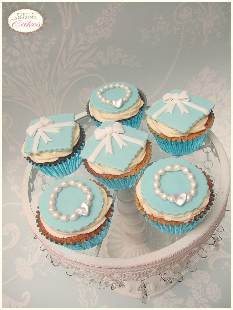 Tiffany style cupcakes from  Bristol caker makers Pretty Amazing Cakes