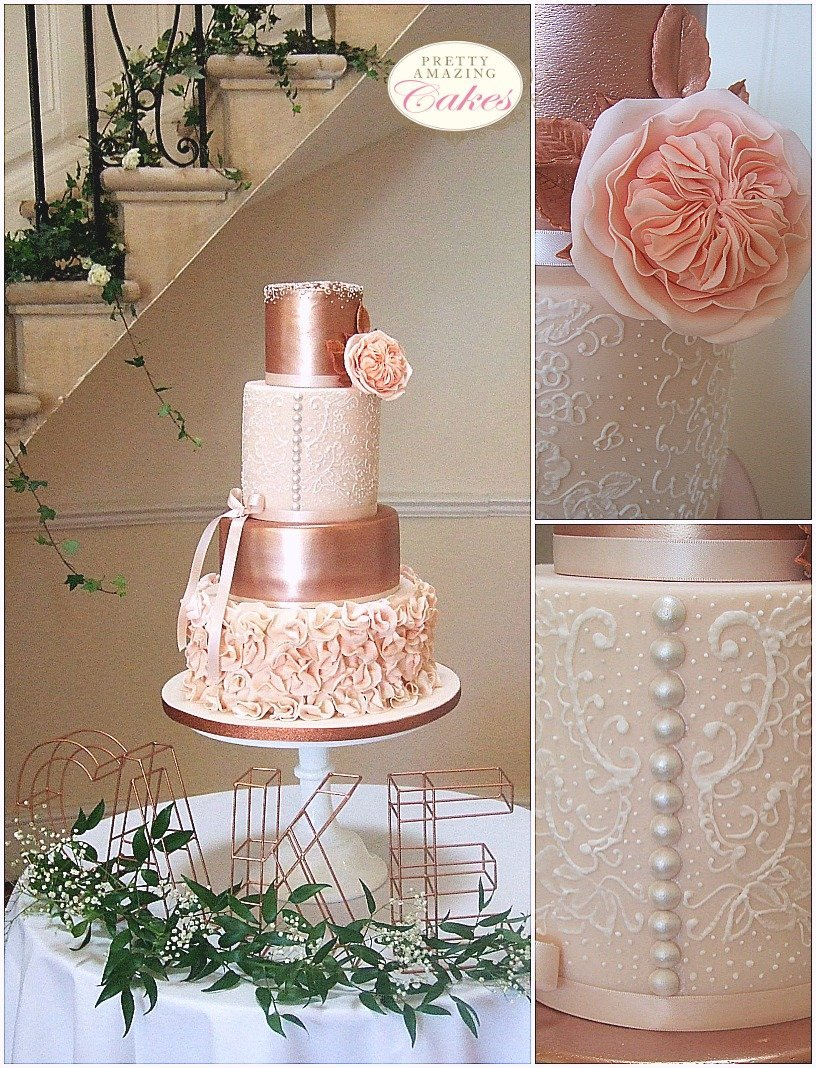 Cotswold wedding cakes, Eastington Park wedding cakes, Pretty Amazing Cakes, award winning wedding cakes Bristol Bath Somerset