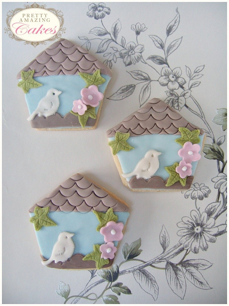 Bird house Cookie Wedding Favours Bristol by Pretty Amazing Cakes