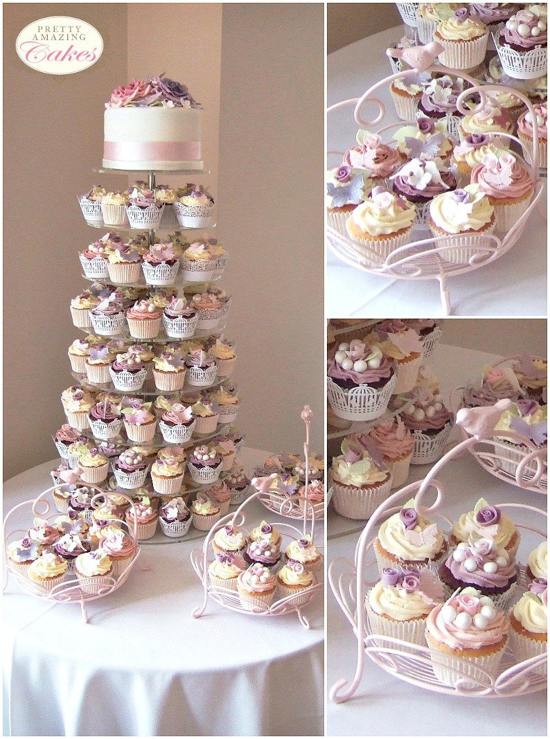Wedding Gift Price Guide : Wedding Cupcakes with Top tier cutting cake Bristol, by Pretty Amazing ...