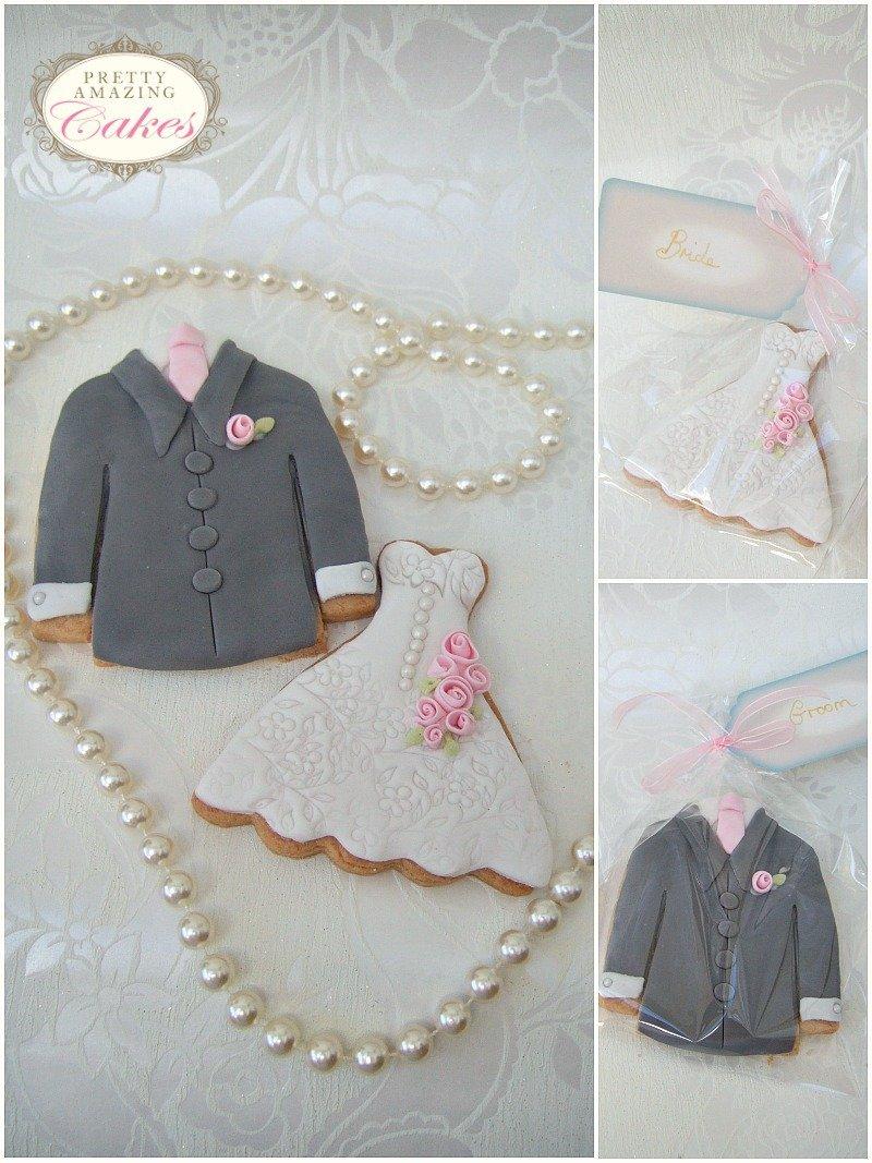 Wedding Dress and Jacket Wedding Favours Bristol by Pretty Amazing Cakes