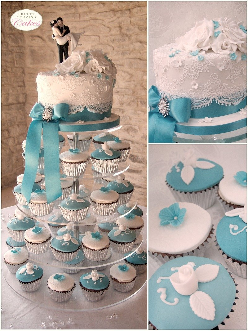 Wedding Cupcakes Tower by Bristol bakery Pretty Amazing Cakes