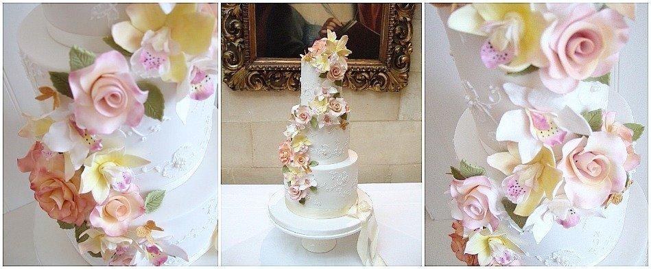 Orchid wedding cakes flower cascade Pretty  Amazing  Cakes Bristol