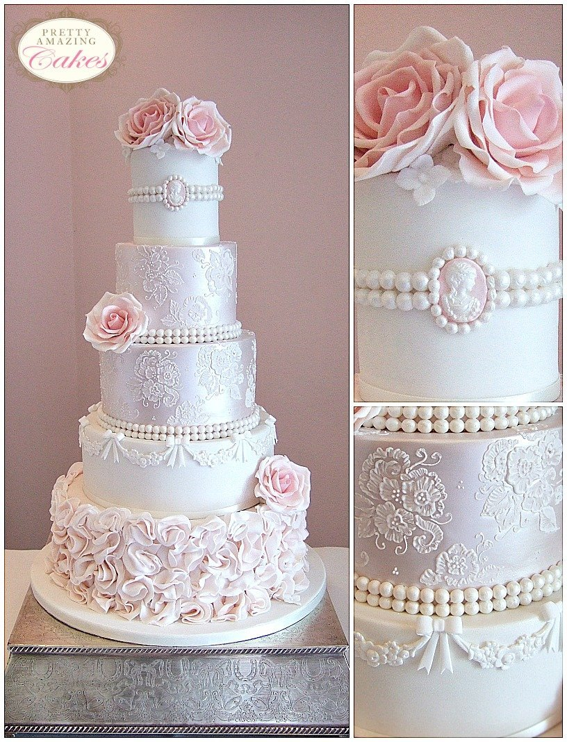 vintage lace wedding cakes Bristol Bath Gloucester Somerset