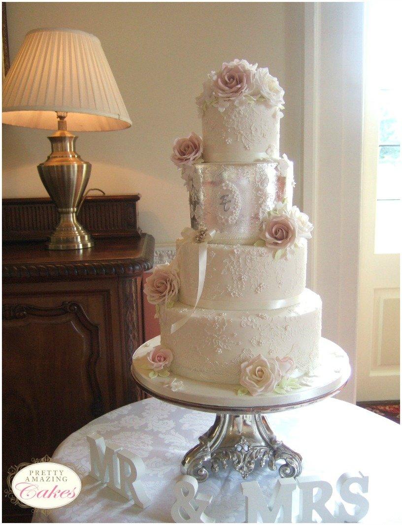 Antique Silver Bath Accessories: Wedding Cakes Bristol, Gloucester