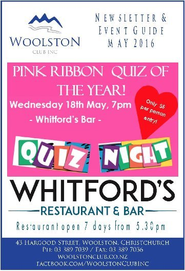 whitford quiz night