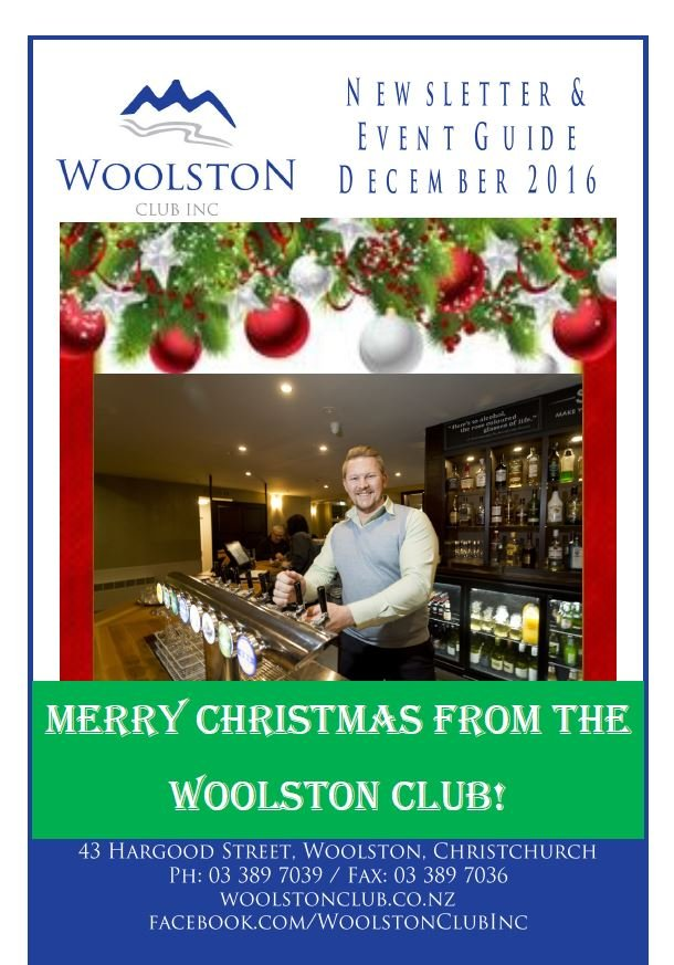 merry christmas from the woolston club