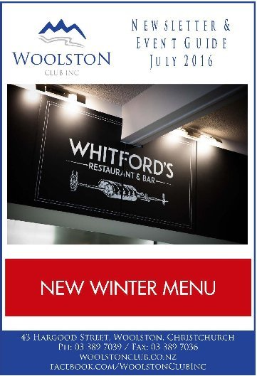 winter menu at the witford restaurant
