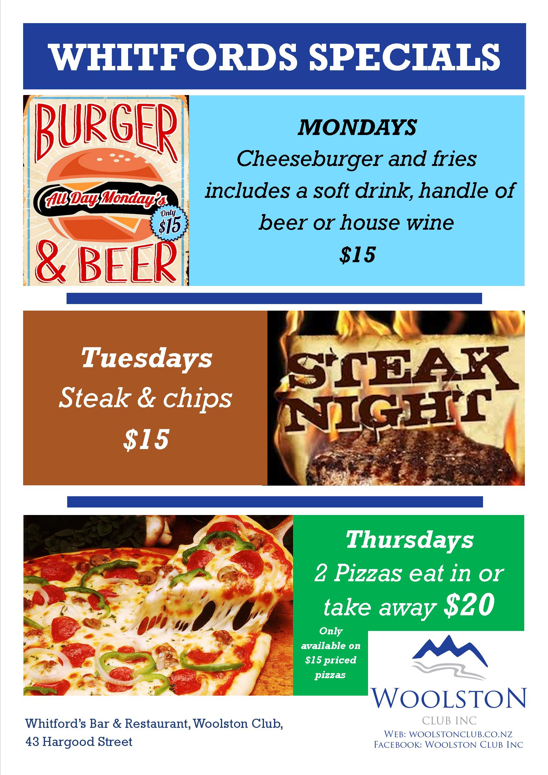 Whitford's Food Specials