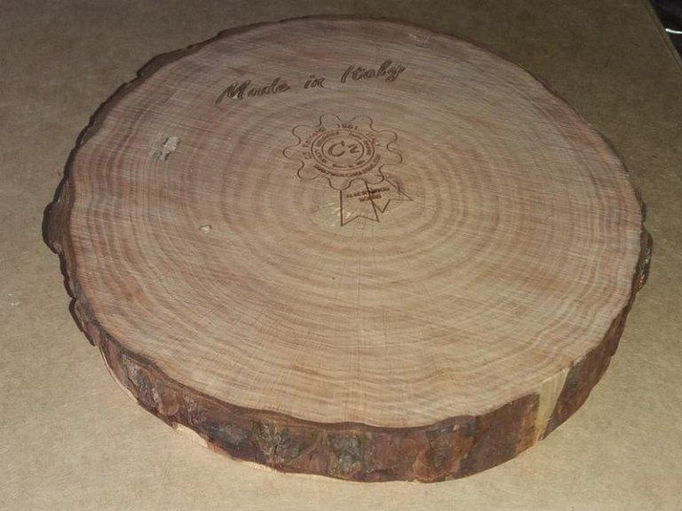 RAW WOOD COASTER DIAM. 20 cm