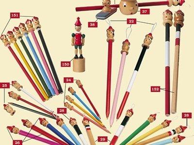 Pinocchio coloured pencils
