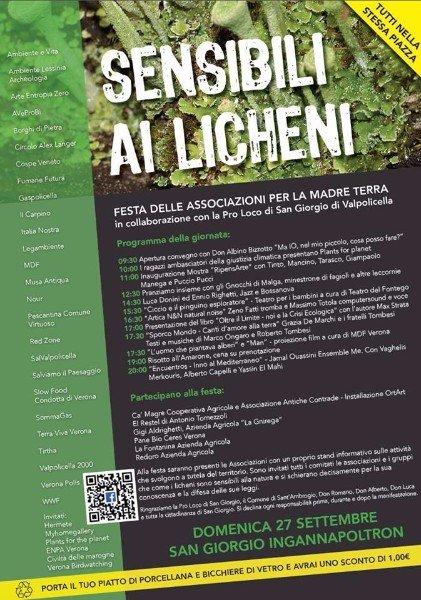 una locandina con scritto sensibili ai Licheni