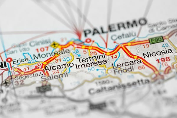 Cartina stradale di Palermo