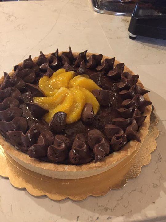 torta fatta in casa con la cioccolata