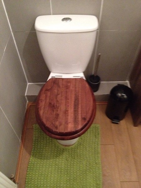 wooden cover for WC