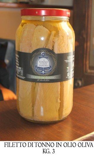 Filetto di tonno in olio d'oliva kg.3