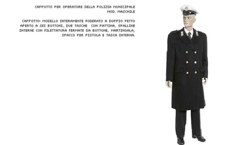 Cappotto polizia municipale