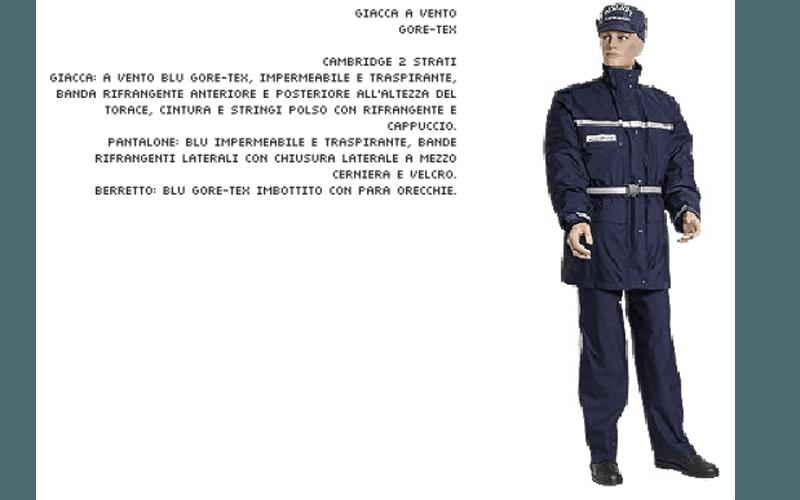 Giacca a vento polizia municipale