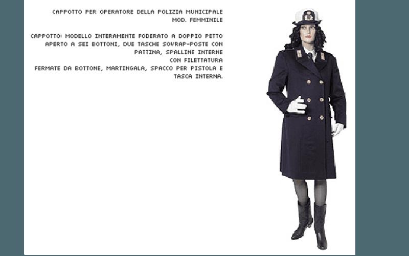 Cappotto divisa donna