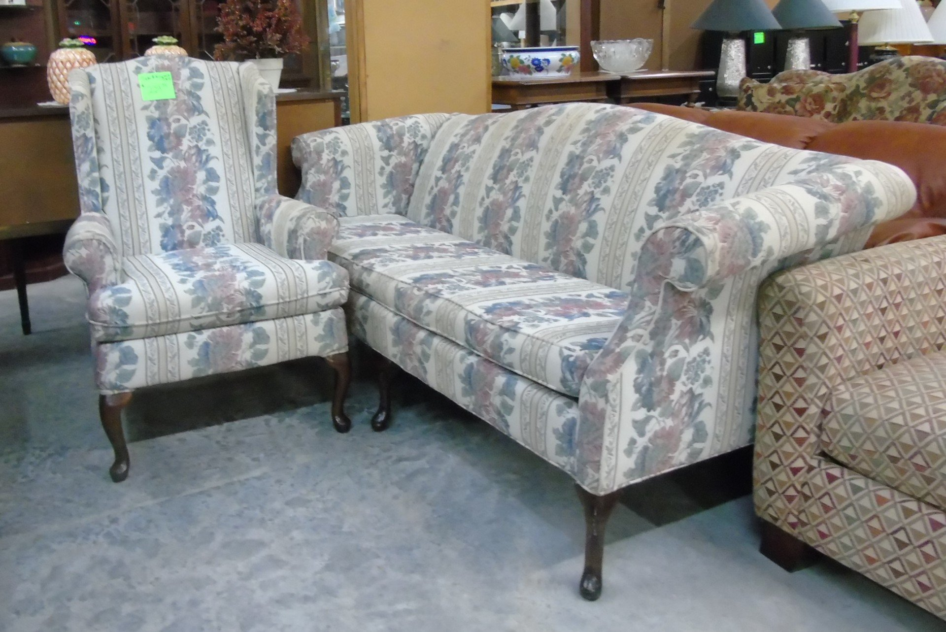 Queen Anne Sofa And Chair 229 99