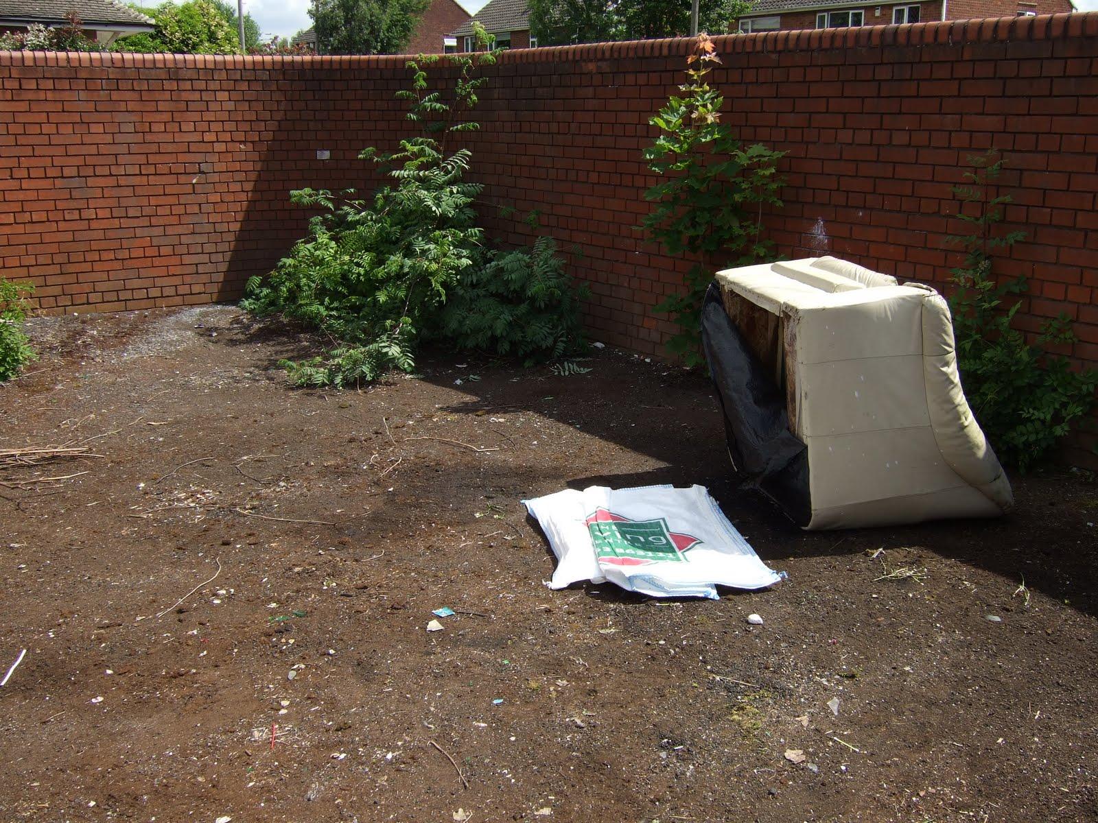 garbage dumping area