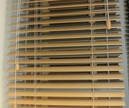 Timber slat Venetian blinds