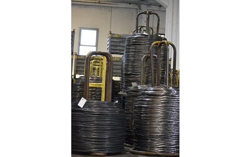filo trafilato pronto per la laminazione