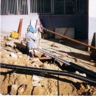 Lavori di realizzazione di condotta in acciaio saldato presso la scuola media di Casteltermini