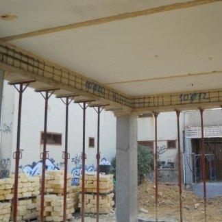Lavori di rinforzo strutturale con armatura supplementare e ripristino con malta fibbrorinforzata