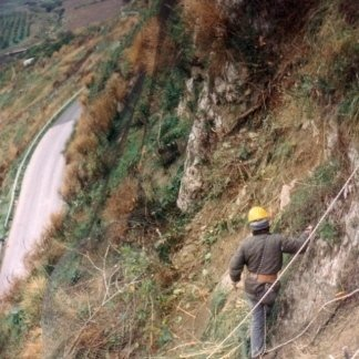 Lavori di messa in sicurezza del costone di roccia nella S.P. Cammarata-Castronovo di Sicilia