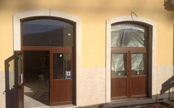 Porte in PVC color legno